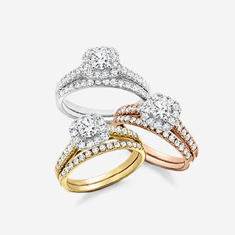 1 ct. t.w. diamond rings in 10k gold