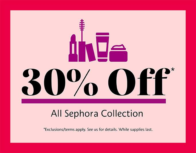 30% off All Sephora Collection