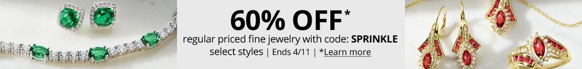 60% OFF* regular priced fine jewelry with code: SPRINKLE select styles | Ends 4/11 | *Learn more