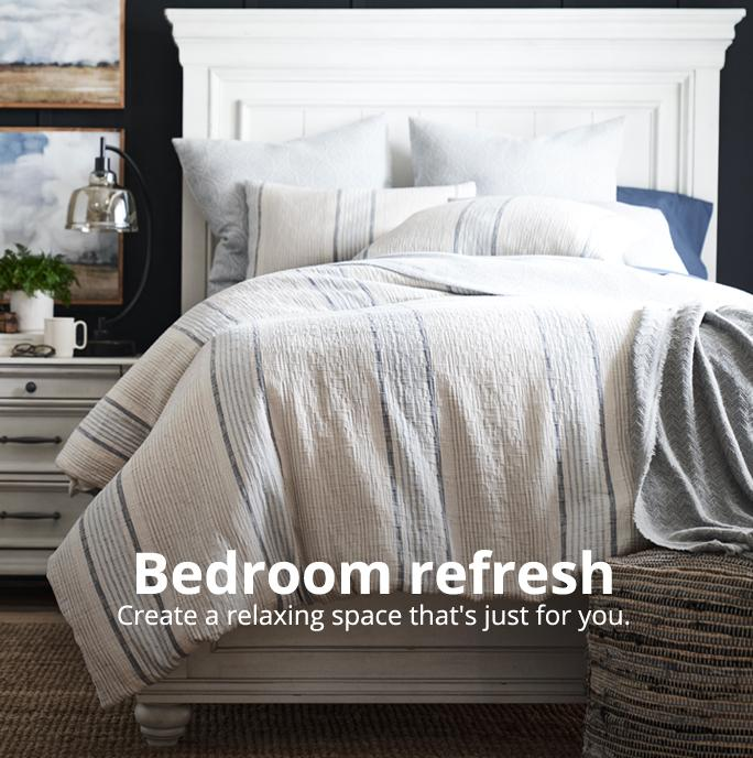 Bedroom refresh Create a relaxing space that's just for you.