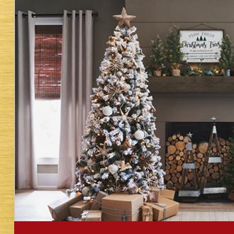 Christmas Trees Grace your home with a beautiful life-like tree.