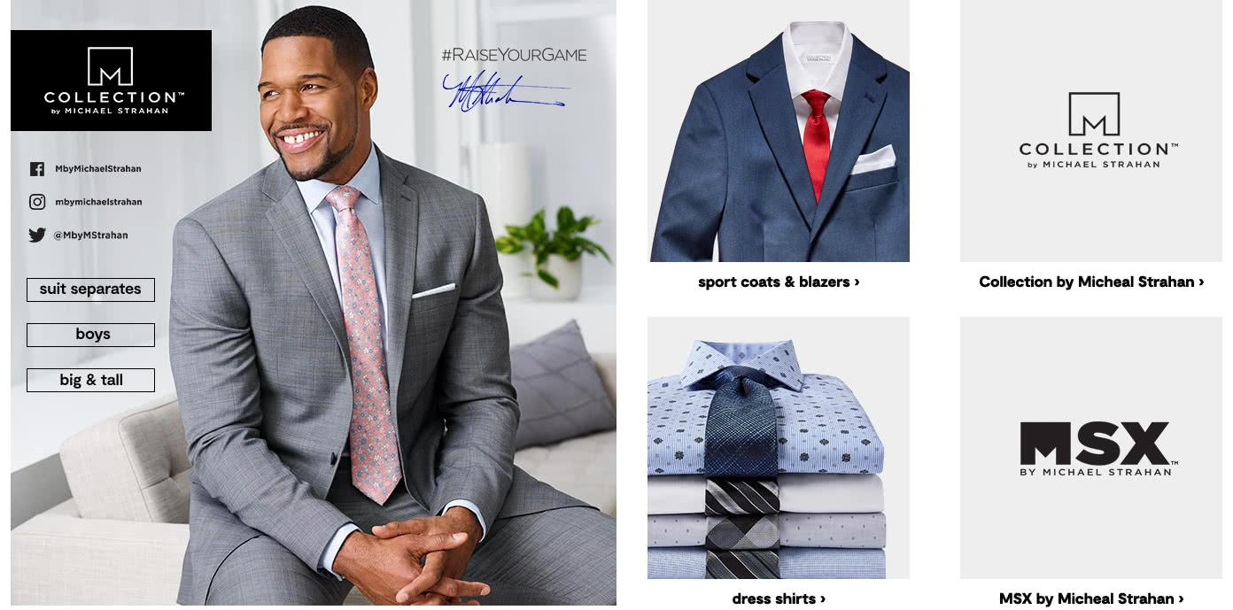 Collection By Michael Strahan. Suit Separates. Boys. Big and Tall. Raise Your Game