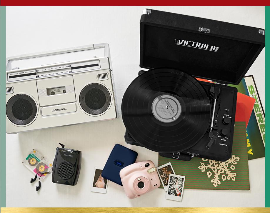 Comeback kids Hit rewind with nostalgic tape players,  turntables and more. Shop Retro Tech