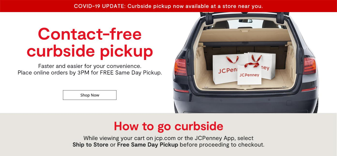 Contact-free curbside pickup