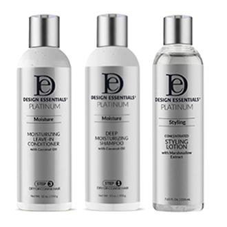 Design Essentials Platinum Crafted with premium ingredients, the Design Essentials collection is a  transformative haircare line designed  for all hair types.