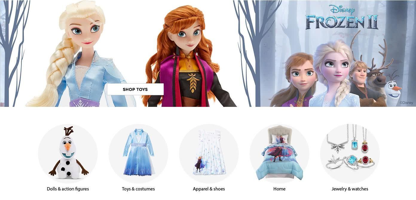 Disney Frozen II. Shop Now. Action Figures. Home. Jewelry. Costumes. Shoes