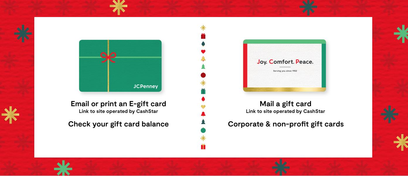 Email or print an e gift card. mail a gift card. check your gift card balance. Corporate & non profit gift cards