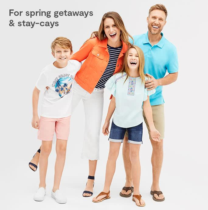 For spring getaways and stay cays