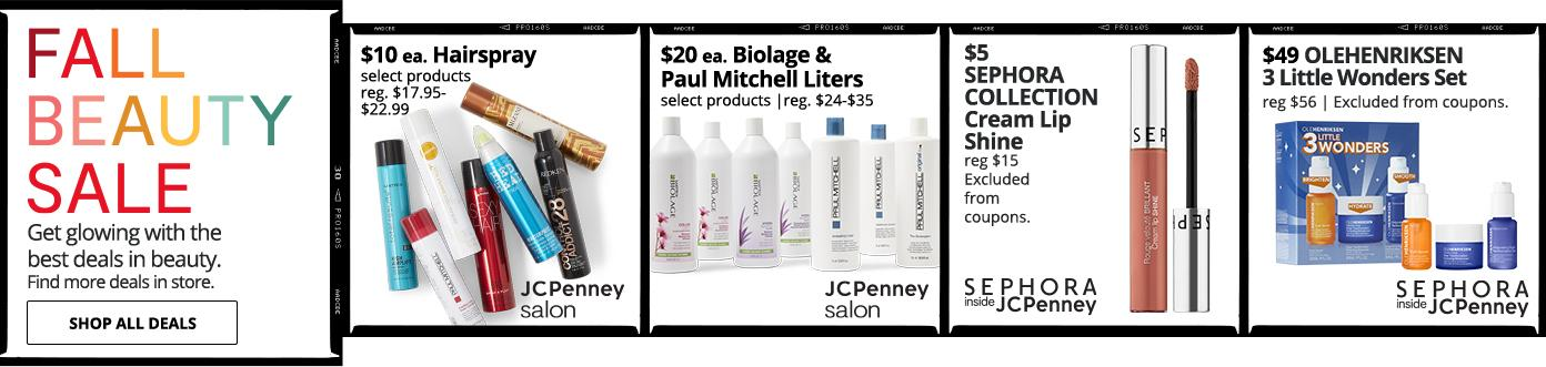 Get glowing with the best deals in beauty. Find more deals in store. $10 ea. Hairspray $49 OLEHENRIKSEN 3 Little Wonders Set reg $56 | Excluded from coupons. $5 Cream Lip Shine