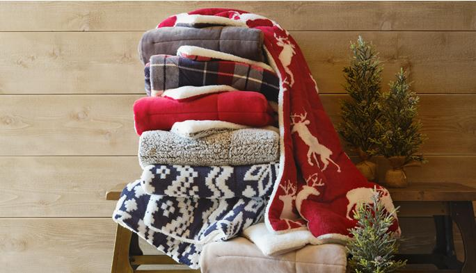 Gift Dreams Add warm holiday wishes with snuggly blankets & throws.