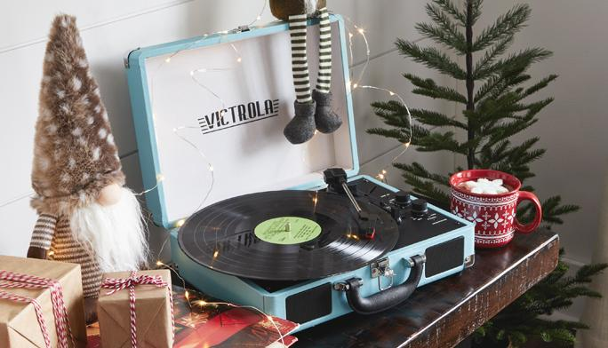 Gift Joy Rewind time with retro turntables, cassette players and more.