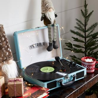 Gift Joy Rewind time with retro turntables,  cassette players more.