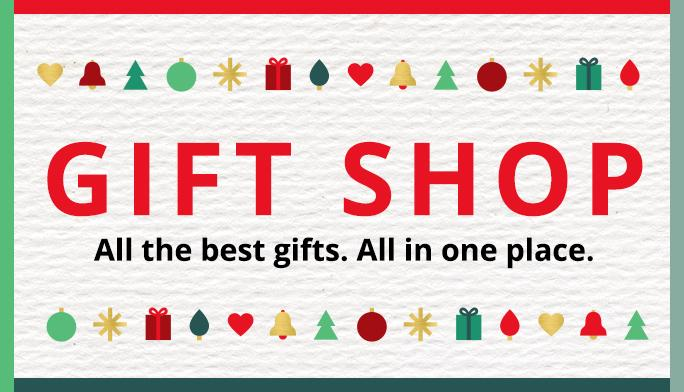 Gift Shop. All the best gifts. All in one place