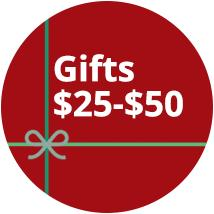 Gifts $25-$50
