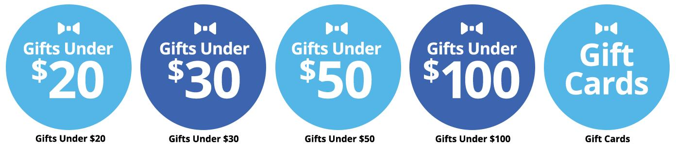 Gifts under $20, $30, $50, $100. Shop all Gift Cards