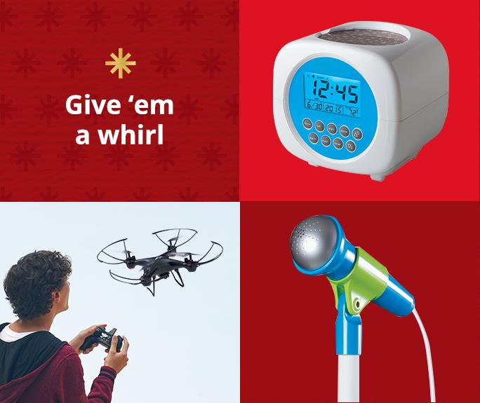 Give them a whirl! Electronics & Gadgets