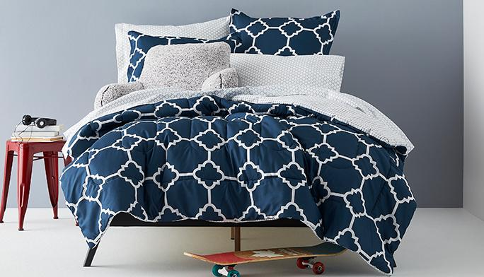 Guys' Bedding Sets All the accessories you need—so making your bed is a no-brainer!