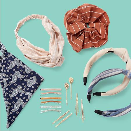 Hair Accessories Cute headbands, scrunchies and more to tame your mane.