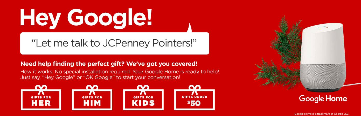 Hey Google! Let me talk to JCPenney Pointers!