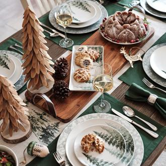 Holiday Entertaining Set a festive table with holiday  dinnerware and accessories.
