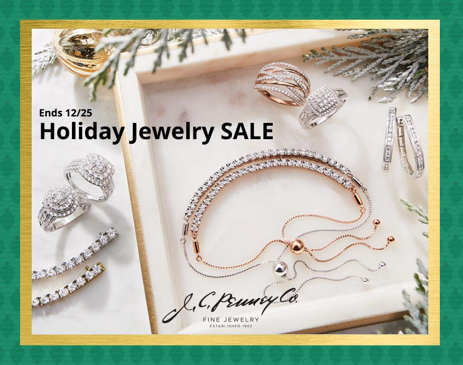 Holiday Jewelry Sale UP TO 70% OFF  Fine & fashion jewelry after EXTRA 30% OFF* with JCPenney Credit Card  & coupon or code: SHOPGEMS  select styles | Ends 12/25