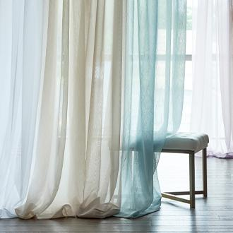 "Home Expressions Lisette 84"" sheer curtain"