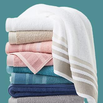 Home Expressions solid or striped bath towel