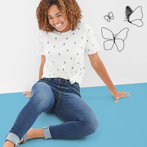Juniors' jeans, starting at $24.99