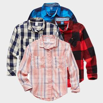 Kids' Arizona button-down or flannel shirt