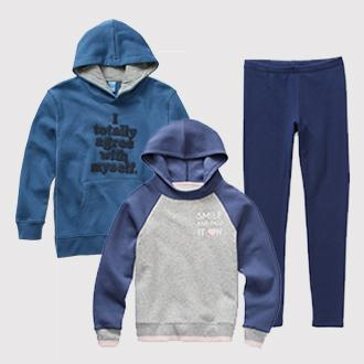 Kids' Arizona fleece-lined hoodie,  leggings or joggers