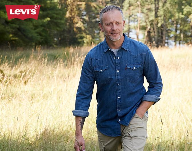 Levis Never stop exploring—even if it's your own the backyard.