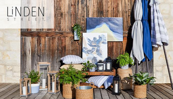 Linden Street Outdoor Living Bring coastal hues into your outdoor space.