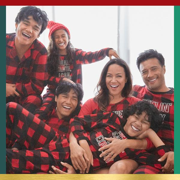 Matching Family Pajamas Make it festive with matching jams for the fam.