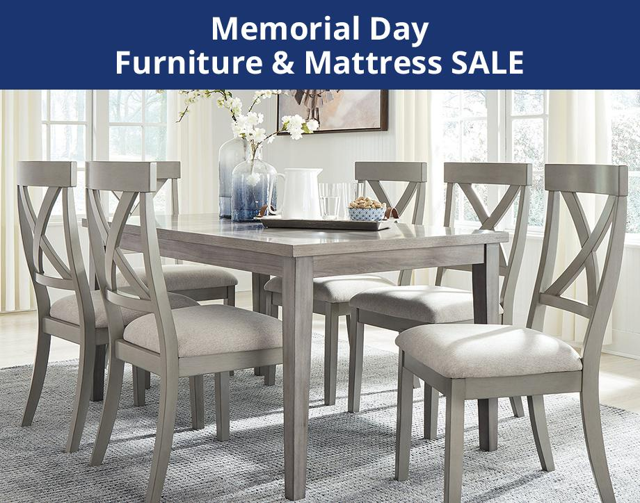 Memorial Day furniture & mattress sale. UP TO 40% OFF +EXTRA 10% OFF* Furniture select styles | Furniture online only. *Exclusions apply.