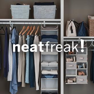 neatfreak! See what's (tidied) up Neatfreak closet and storage solutions make getting­ (and staying­!) organized easier than ever. Now at JCPenney.