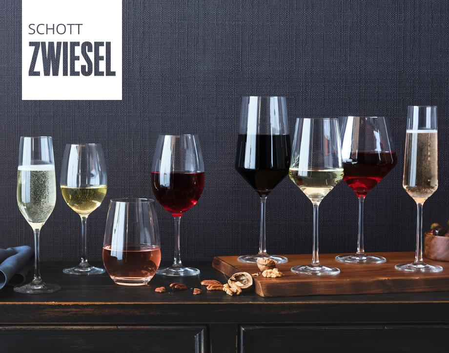 NEW!  Schott Zwiesel barware Toast the new season with elegant barware  made of titanium-infused crystal that  resists chipping and breaking.