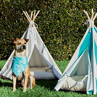 Pet Accessories Keep your furry friend cool and  comfy with a pup tent.
