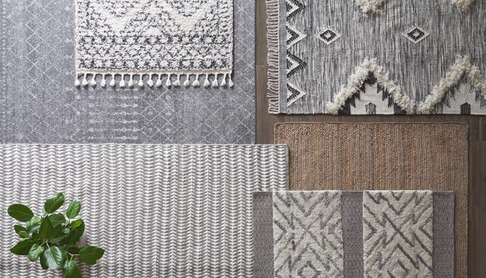 Rugs Upgrade your floors with rich textures & pretty patterns.