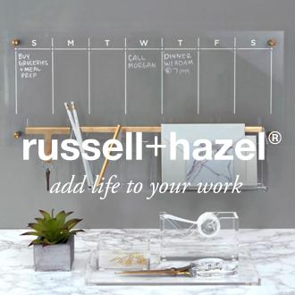 RUSSEL+ HAZEL Work wonders Fashionable and functional  office accessories from  Russell + Hazel are designed  for maximum self-expression.  Now at JCPenney.