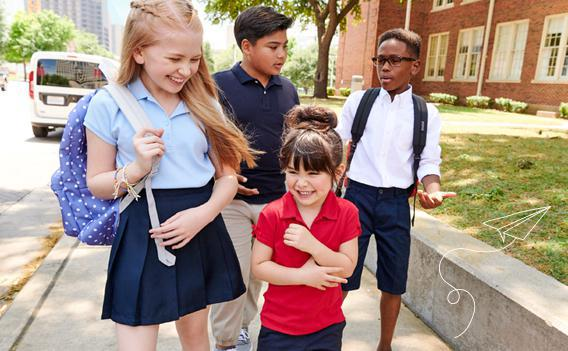 School Uniforms Made-to-last durability withstands wash after wash.