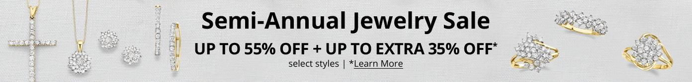 Semi-Annual Jewelry Sale up to 55% off + up to extra 35% off select styles learn more