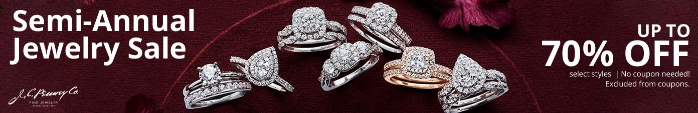 Semi Annual Jewelry sale up to 70% off  select styles No coupon needed! excluded from coupons