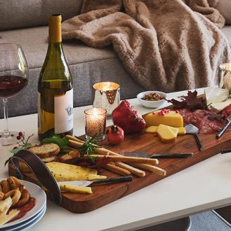Serveware Charcuterie boards, platters and more.