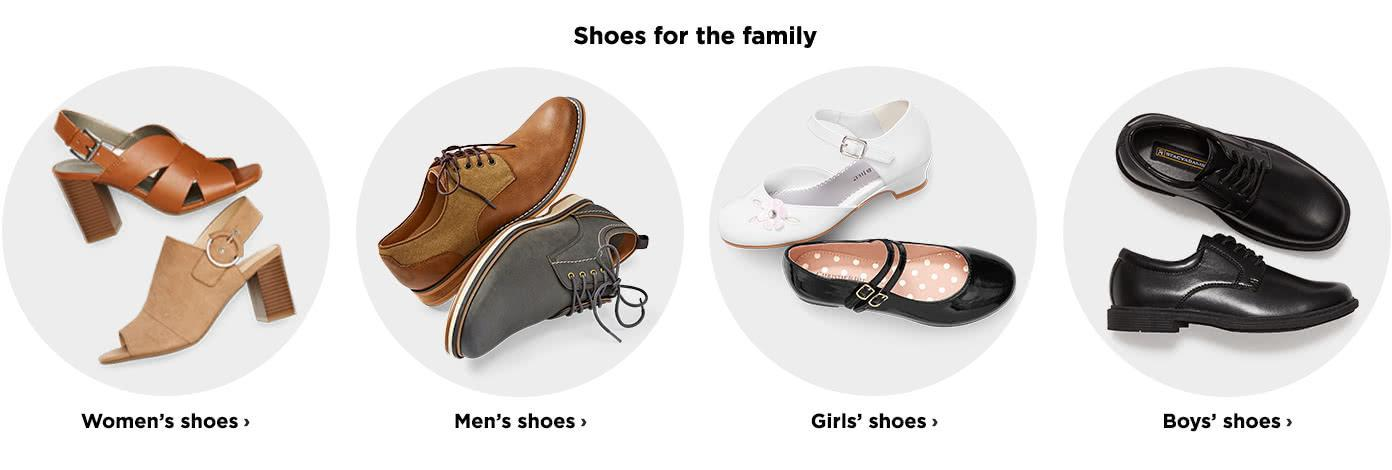 Shoes for the Family. Womens Shoes Mens Shoes Girls Shoes Boys shoes