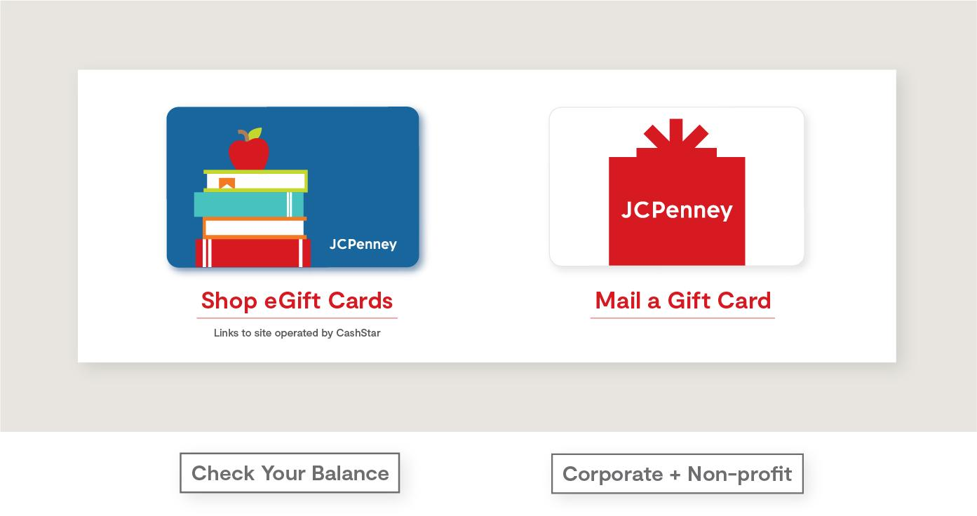 Shop eGift Cards. links to site operated Cashstar. Mail a gift card. Check your balance. Corporate and non profit