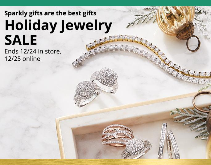 Sparkly gifts are the best gifts. Holiday Jewelry SALE. Ends 12/24 in store, 12/25 online.