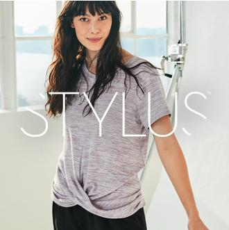 Stylus Sunup to sundown styles An all-new styleisure brand designed to comfortably  elevate you everyday.  Only at JCPenney.