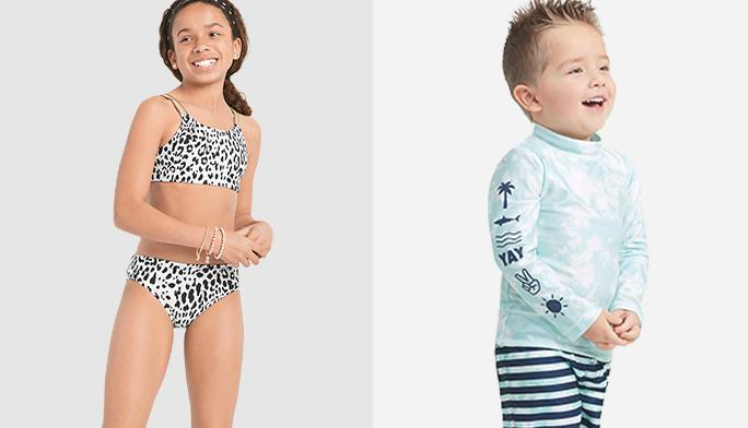 Swimwear Grab the sunscreen and go in these splash-ready swim suits.