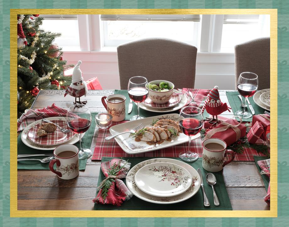 Plaid tidings Set a beautiful holiday table for gatherings large and small. Shop Now