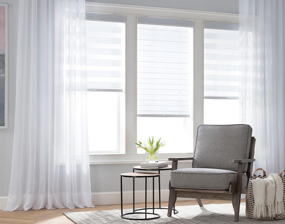 The Perfect View We offer a wide assortment of curtains, blinds & shades to reflect your unique style.